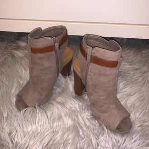 Just Fab open toed booties